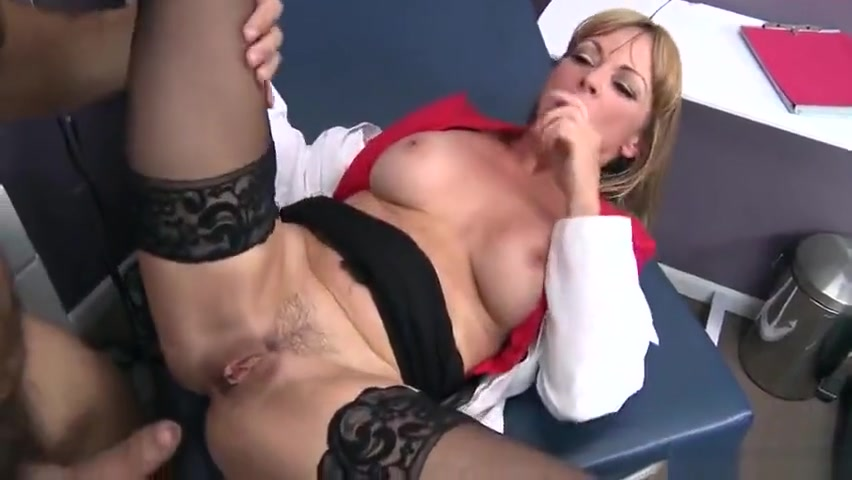 Unbelievable breasty mom Shayla LeVeaux performing in real medical XXX video Pulling off bra big boobs sexy