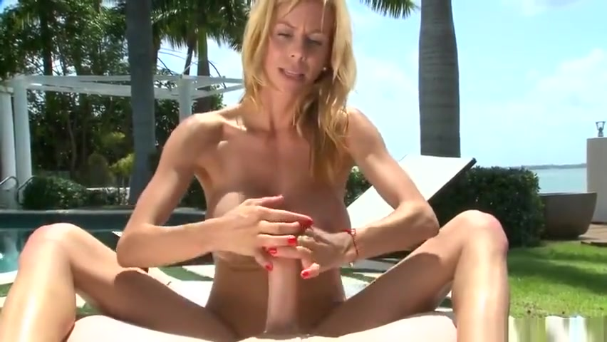 Unearthly blonde mom Alexis Fawx in handjob porn video out of the house Mature leopard boots