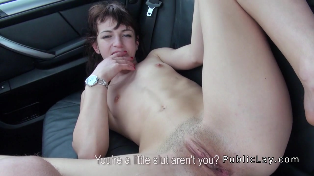 Brunette European amateur bangs in the car Chubby granny huge tits anal