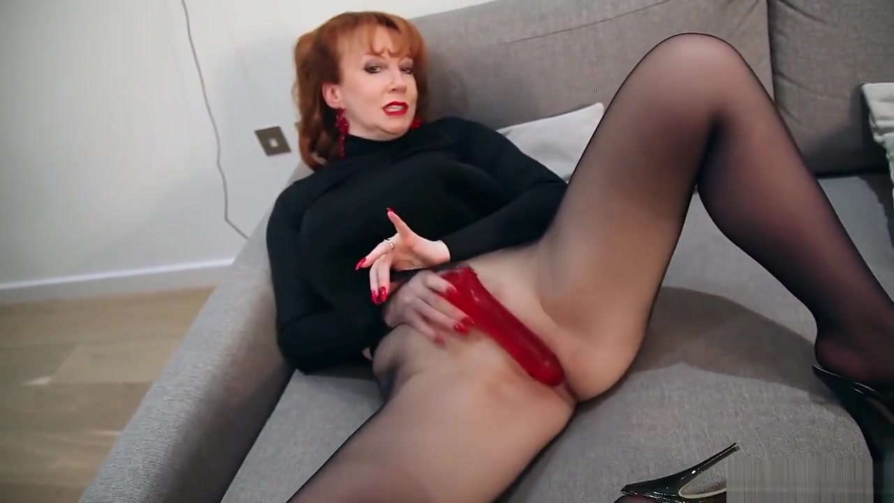 Redhead Red Xxx Solo Play In Nylons And Lingerie Www Tits Porn