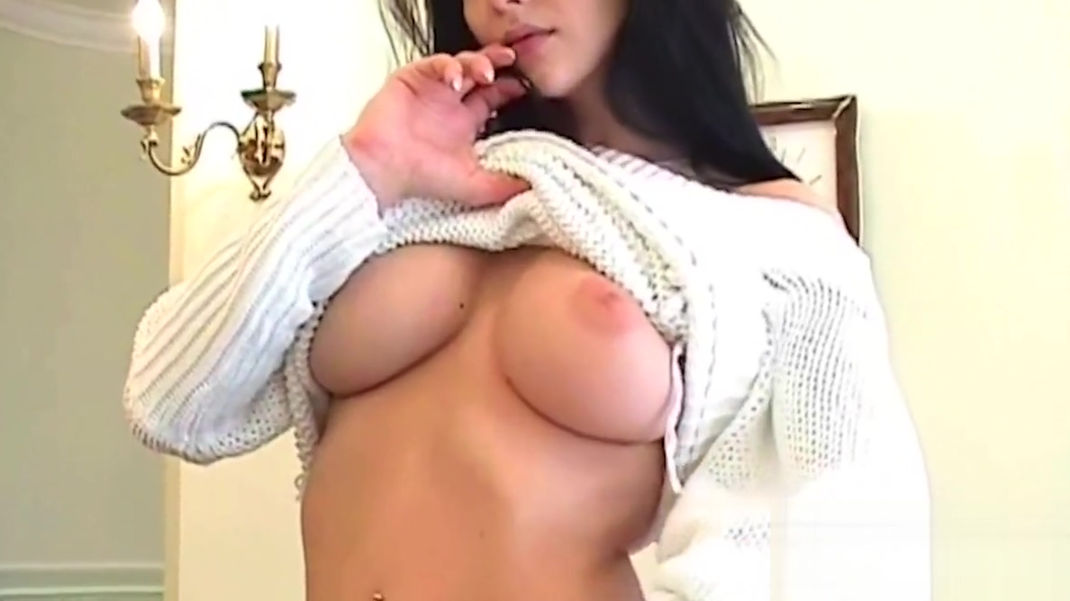 Smoking Hot Brunette Katie Fey Teases In Sweater & Thong! Round Ass Teen Fucked