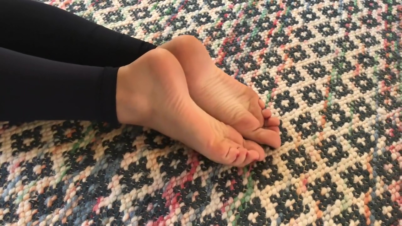 Perfect Teen Feet Scrunching Doing Yoga Too many girls and not enough guys