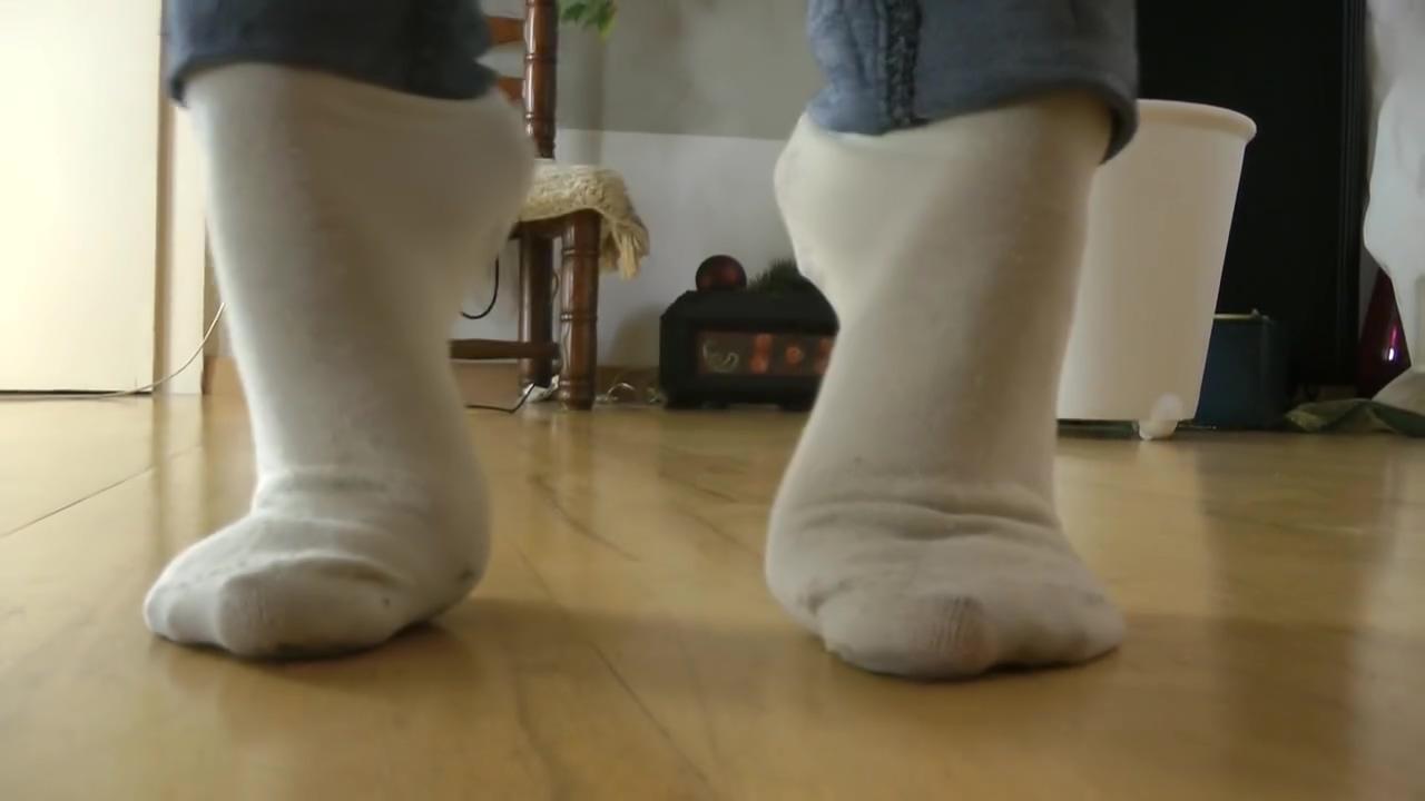 Ballerina Dirty White Socks Posing Desi Ass Came