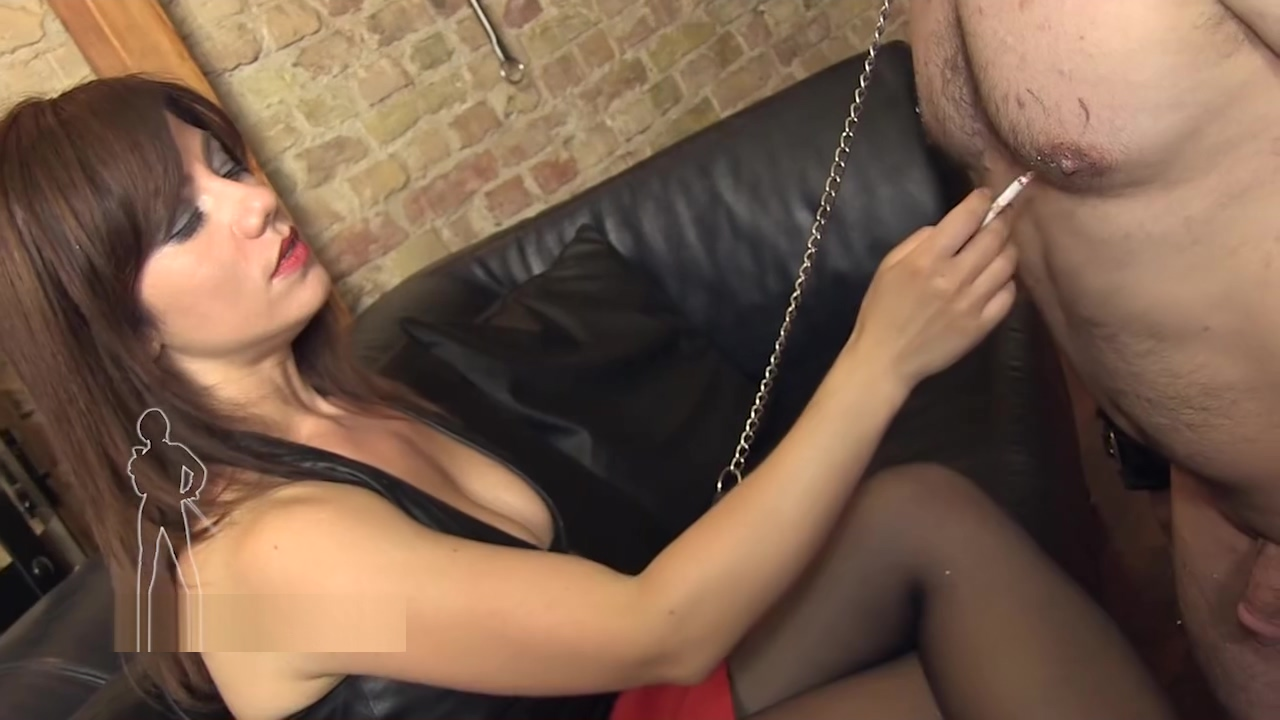 Ashtray Slave In Chains Girl takes cash for sex