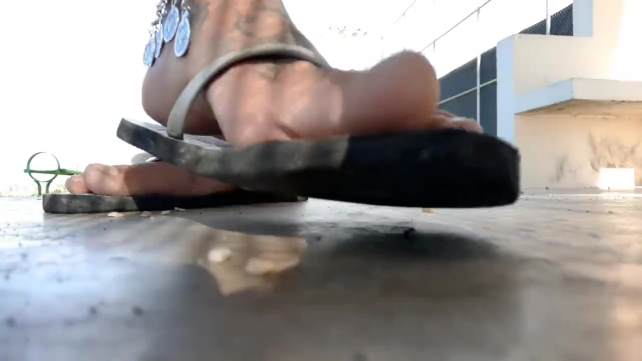 Giant Feet Playtime in Flip Flops and Coin Anklet Black porn stars thin with huge natural tits hardcore