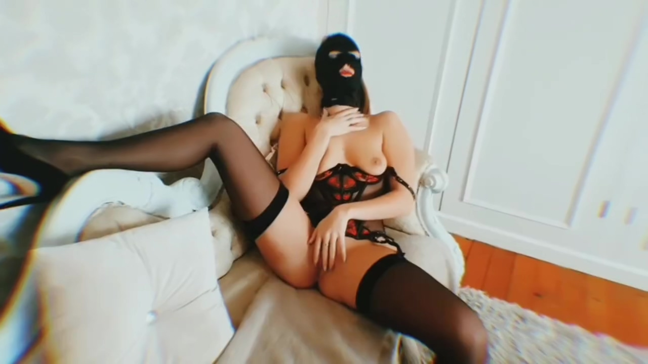 BALACLAVA BITCHES Masked British Wife Multiple Orgasms with my Hitachi Wand Lesbian squirting orgasm videos