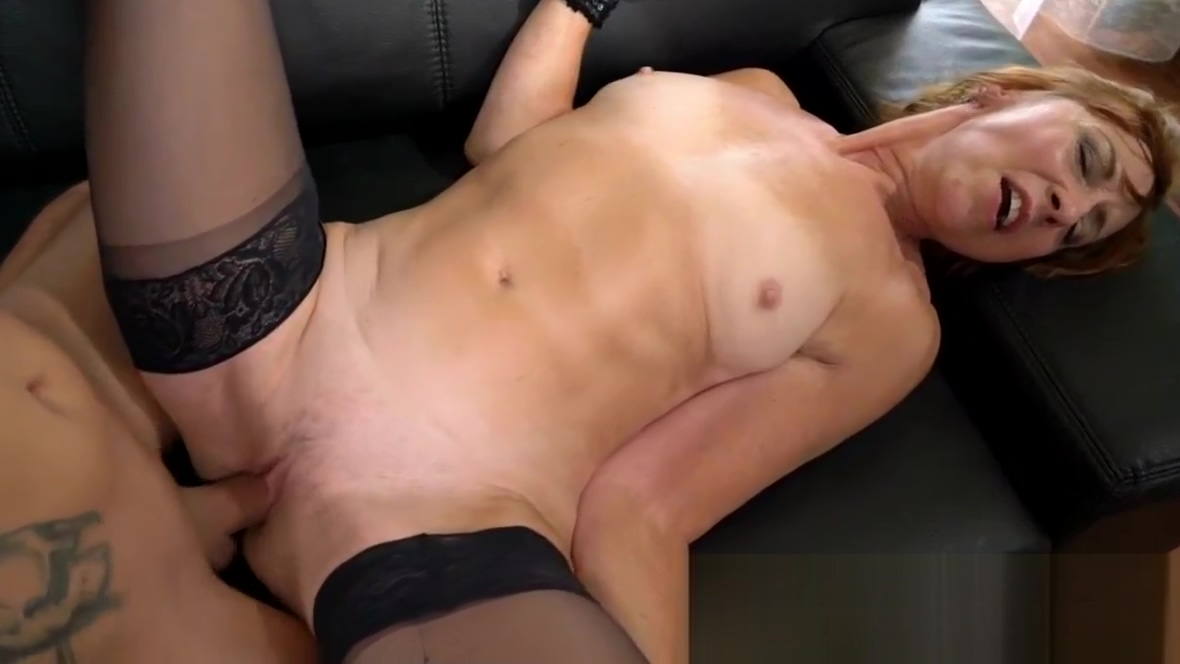 Stockings granny spermed making a sex scene