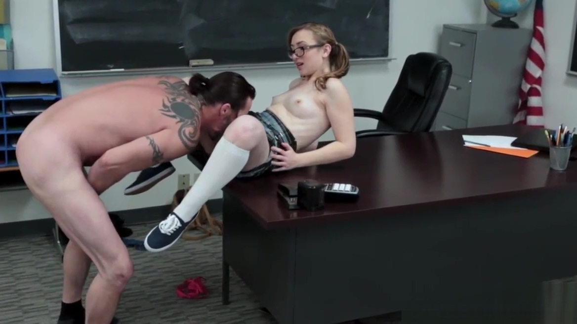 Teenager drilled in class Two sexy milfs