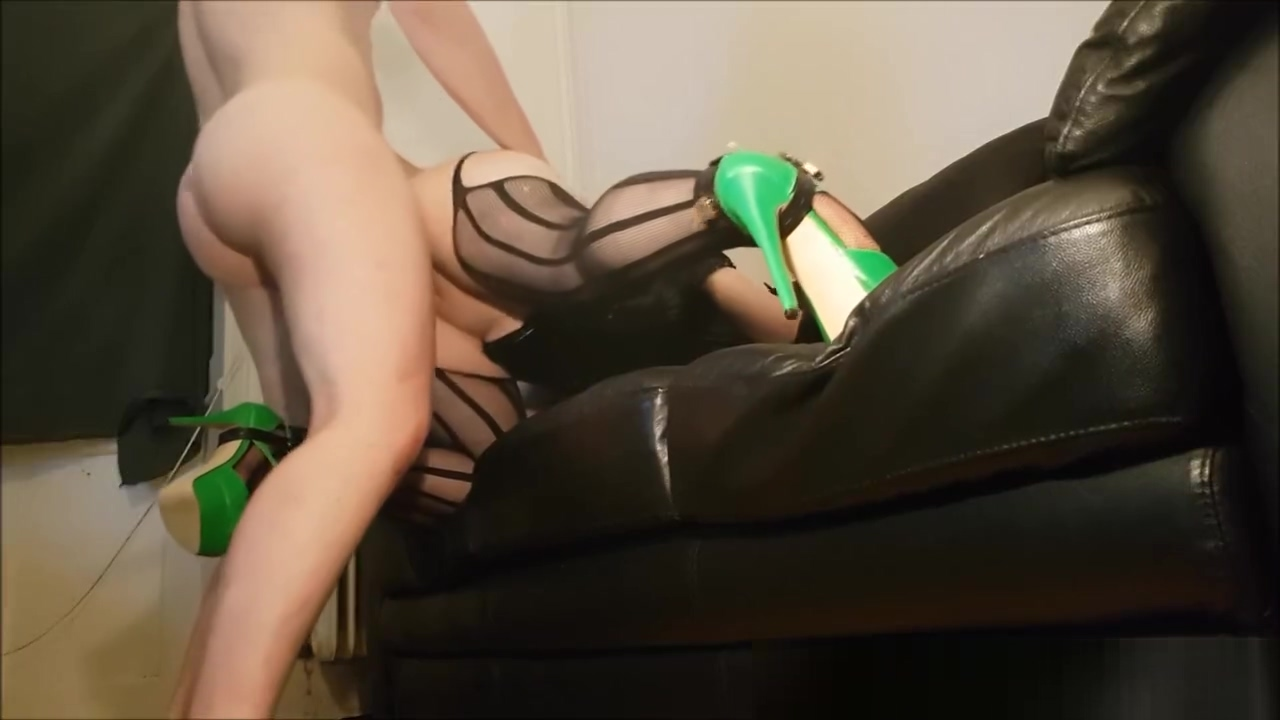 Slave girl in heels punished with spanking and hard fuck on couch star out tight granny