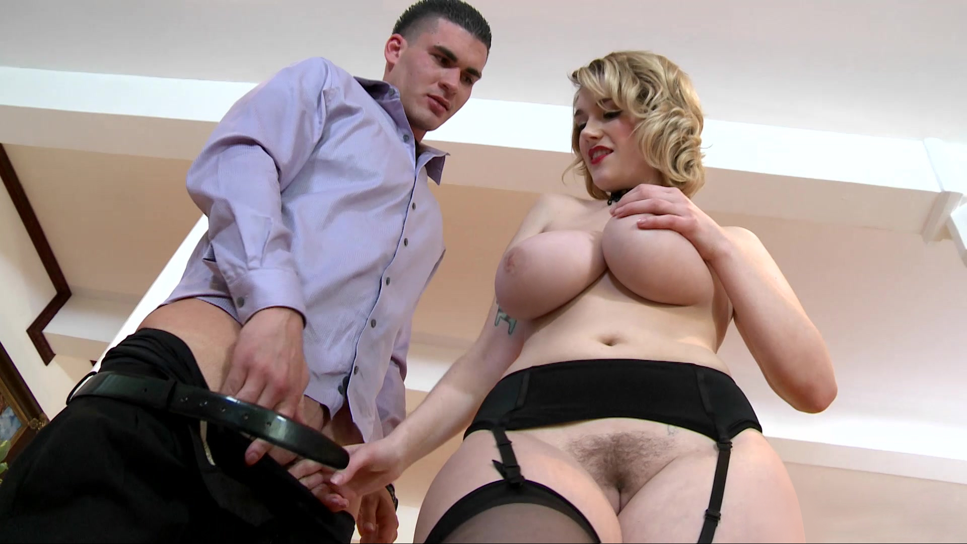 Double H tities bulging out English manor femdom