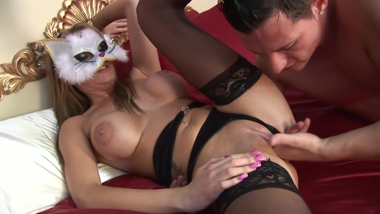 Masked Blonde Takes A Load On Her Big Tits Gangland Extreme