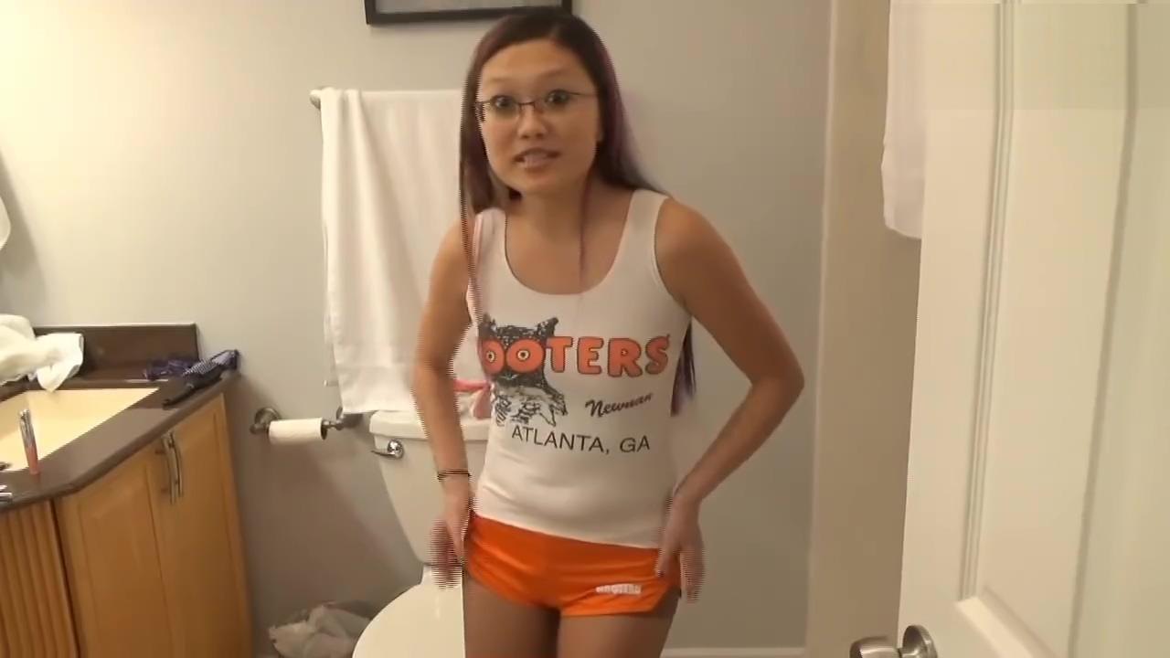 Wetting Hooters Uniform - Ineed2pee (Mina) Monkey the monkey will spank