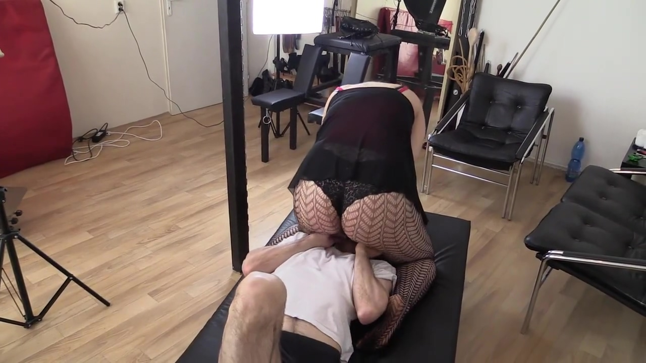 Fishnet Facesitting Smother His 1st anal