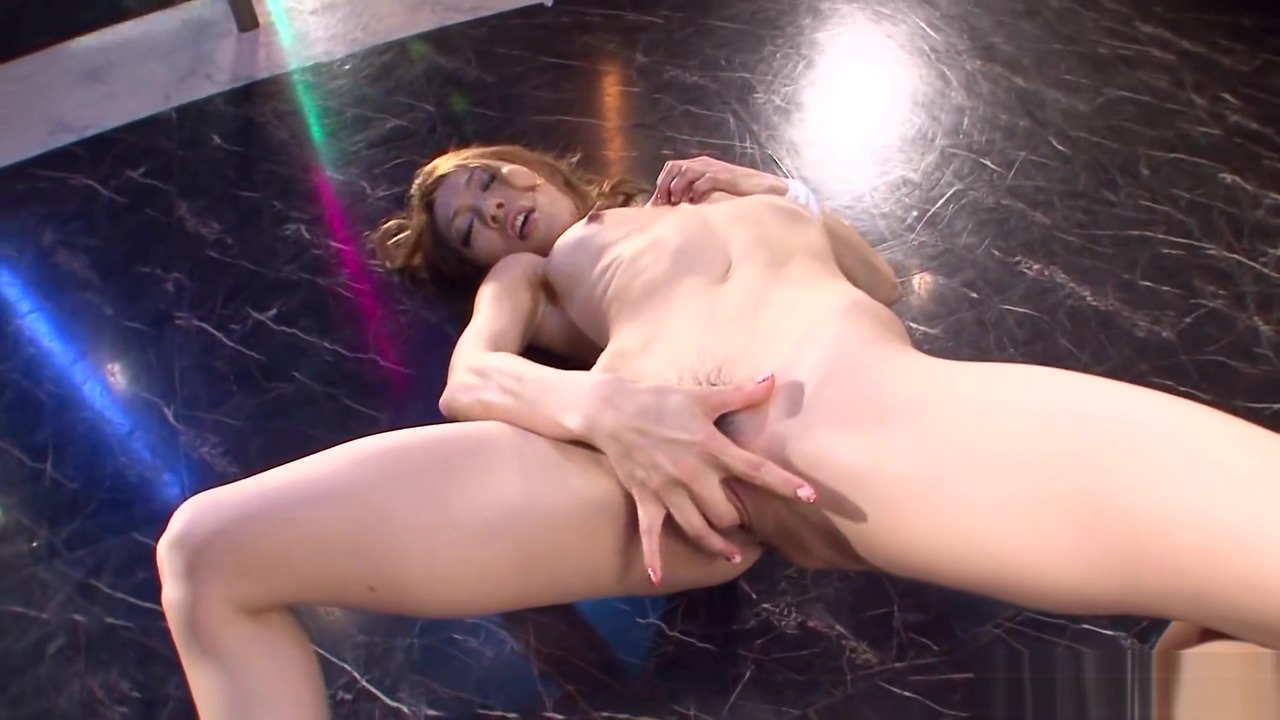 Asian stripper getting wild on the pole as she masturbates Exotic girls nude small tits