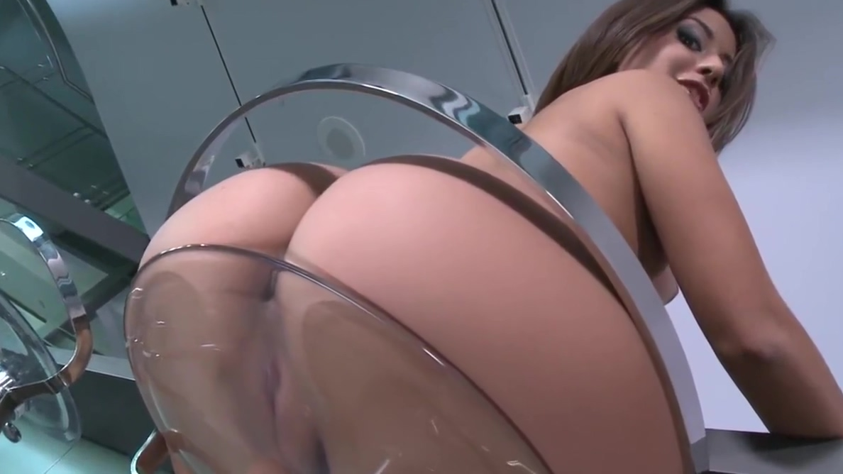 Sexy Tease on glass stool