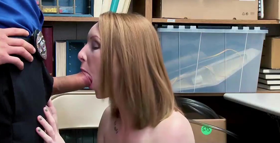 Redhead Cutie Caught Stealing in The CCTV and Fucked Wifeys world blowjob gifs
