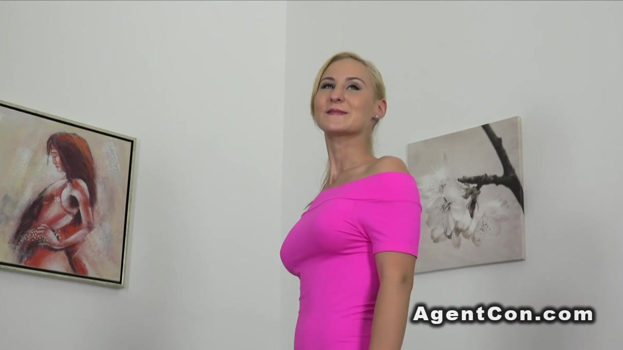 Busty waitress gets creampied in casting