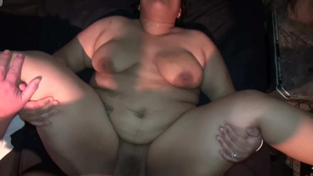 Sexy Black BBW Milf Fucks Chubby White Guy and Swallows His Cum