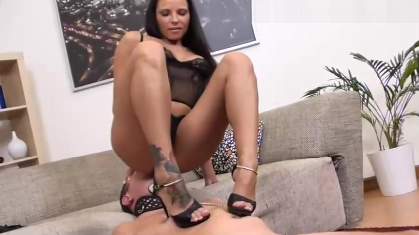 Mistress uses a slave for her oral pleasures and facesitting Shy sexy girls getting Naughty